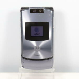 Motorola V3xx (AT&T) Gray 3G Flip Phone - Vintage Collector - Fast Shipping