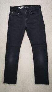 LEVI'S Denizen 216 Skinny Fit Boys 14 Regular Jeans Black Denim Adjustable Waist