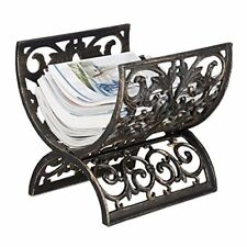 Relaxdays Porte-revues Porte-magazine Antique Vintage Porte-journau(bronze)