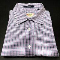 Masons MJ74 Mens XL Long Sleeve Button Front Purple Plaid Shirt Ventura CA