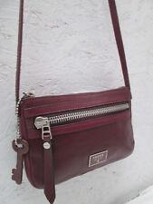 -Magnifique petit sac bandoulière FOSSIL cuir  TBEG  bag vintage