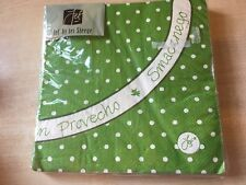 BNIP New Jet by Ter Steege Pack of 20 3-Ply Paper Napkins - 33cm - Green Spots