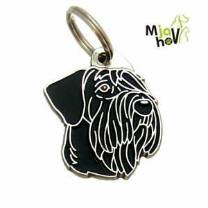 Dog name ID Tag,  Giant schnauzer, Personalised, Engraved, Handmade, Charm