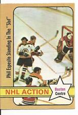 72-73 OPC O-Pee-Chee NHL Action Phil Esposito Standing In the Slot #76 Excellent