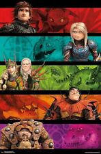 HOW TO TRAIN YOUR DRAGON 3 - CHARACTER COLLAGE POSTER - 22x34 - MOVIE 17356