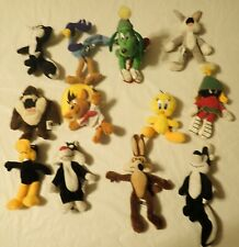 Lot of 12 Warner Bros. Miniature Plush Characters