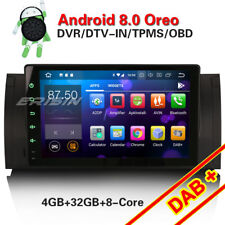 """9"""" Android 8.0 DAB+ Autoradio GPS Navi Für BMW 5er E39 E53 M5 X5 WiFi 4G DVR DTV"""