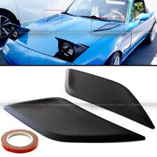 For H3 H1 Pair Flexible JDM Decorative Hood Bonnet Vent Cover Flat Black