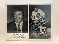 Phil Esposito Vintage Picture Signed Autographed