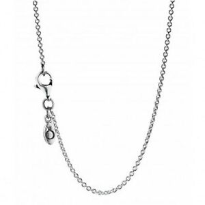 AUTHENTIC PANDORA NECKLACE STERLING SILVER CHAIN  #590412-45 RETIRED