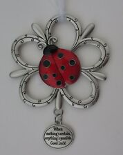 10cd When nothing is certain anything possible Loving Ladybugs Ornament ladybug