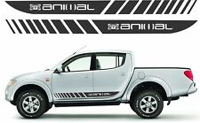 MitsubishI Warrior triton L200 Animal side stripes graphics set stickers decals