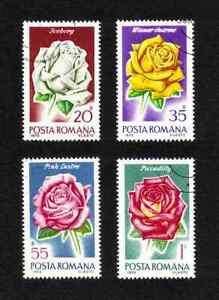 Romania 1970 Roses short set of 4 values used