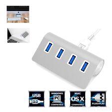 USB 3.0 Hub 4 Port Splitter Charging Aluminum, Fits Most Computer Accessories