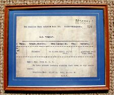 TITANIC REPRODUCTION PRINT OF THE SOS DISTRESS SIGNAL SENT FROM  R.M.S.TITANIC