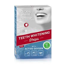 Global white whitening strips, 7 pouches