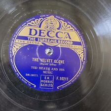 78rpm TED HEATH & HIS MUSIC the velvet glove / warsaw concerto