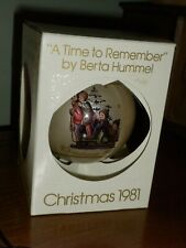 "1981 Schmid Sr. Berta Hummel ""A Time to Remember"" 8th Ltd.Ed.Glass Ornament"