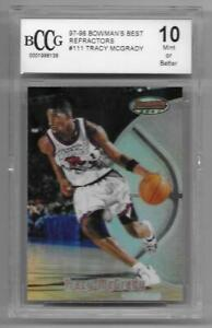 1997 98 Bowman Best 111 rc TRACY MCGRADY tmac Rookie REFRACTOR card BGS BCCG 10