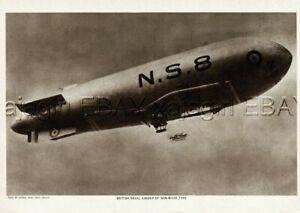 Zeppelin British Naval Airship NS8, 1919 Photogravure Print