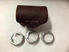 Vintage Polaroid Close-Up Lens Kit w/ Leather Case & 3 Lenses