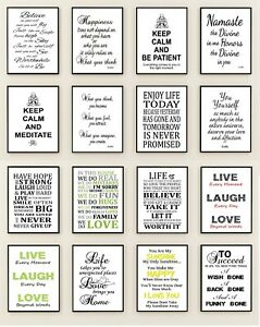 Inspirational Prints Posters Motivational quotes Buddha Prints Family Quotes