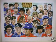 AYRTON-SENNA & 25 F1 CHAMPIONS PRINT.(IN AUTO SPORT £150) LTD-EDT.L@@K AT PICS!