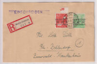 Bizone/Band-Netzaufdruck,Mi. 51I, 38I u.a., R-Berlin/Dahlem 9.9.48