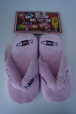 Tootsie Roll Pink Slippers, Sleet Size Women's Medium 7-8
