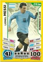 MATCH ATTAX ENGLAND WORLD CUP 2014 LIONEL MESSI 100 HUNDRED CLUB NO 271