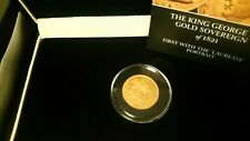 More details for king george iv  1821 gold sovereign - boxed with coa  london mint