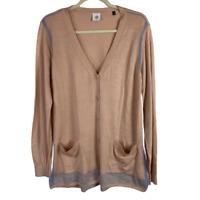 Cabi Women's Lucy Cardigan Sweater Buff Long Sleeve Button Up #5288 Size Medium
