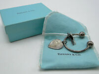 Vintage Tiffany & Co Sterling Silver Key Ring w Pouch & Box