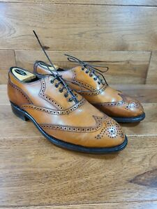 Vintage FootJoy Classics Brown Leather Wingtip Oxford Shoe Wide Size 9.5 EEE USA