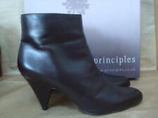 PRINCIPLES UK 6 SOPHIA BROWN LEATHER ANKLE BOOTS BOXED
