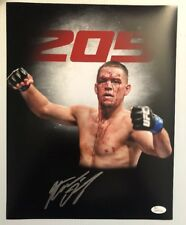 Nate Diaz Signed Autographed 11x14 Photo UFC MMA CHAMP JSA WITNESS COA