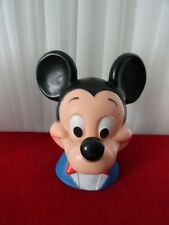 Vintage MICKEY MOUSE Head Bust Figure BANK Walt Disney 1971 Play Pal Plastics