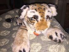 """Large Steiff Bengal Tiger 32"""" named """"Pascal"""" means Easter"""