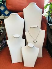 Luxury Euro Design Jewelry Necklace Chain Display Stand Bust White/Grey/5 Sizes