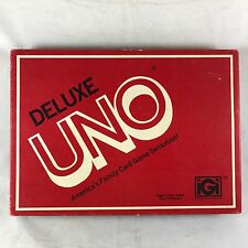 1978 Deluxe UNO Card Game w Tray Score Pad Vtg iGi International Games Inc #3001