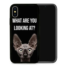Funny Cat Look - Protective Phone Case Cover fits iPhone SE 5 6 7 8 X 11 Pro Max