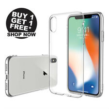 2-Pieza Ultrafino TPU Claro Fundas carcasas Cover Para iPhone XR Xs Max 6S 7 8