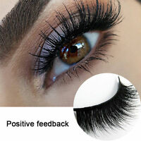 Hot Luxurious 100% Real Mink Elegant Cross Thick False Eyelashes 3D Eye Lashes