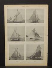 Harper's Weekly Single Pg The racing Yachts of '91  1891  B9#87