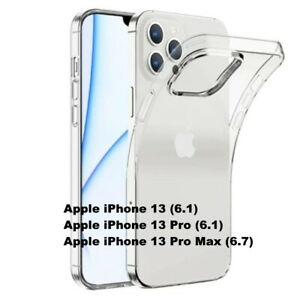 For Apple iPhone 13,13 Pro, 13 Pro Max transparent soft silicone TPU clear case