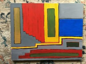 LISTED ARTIST painting ABSTRACT modernist Dr. Benjamin Gross NEW TO MARKET!!!