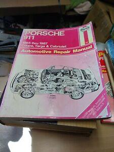 Haynes Repair Manual Porsche 911 1965-1989 80020 Coupe Targa Cabriolet Air Cool