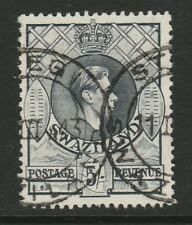 More details for swaziland 1938-54 5/- grey p.13½ x 13 sg 37 fine used.