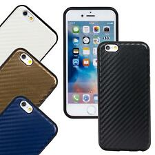 Apple iPhone Carbon Slim TPU Bumper Handy Schutz Hülle Tasche Silikon Cover Case