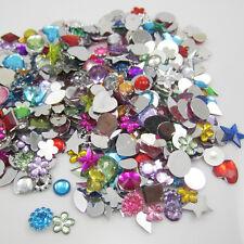 NEW RANDOM  for DIY Art crafts 7g(65-75PCS) Resin crystal FlatBack Scrapbooking